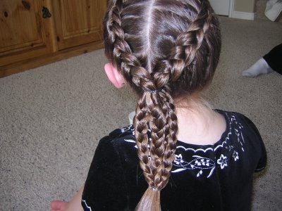 косички на длинные волосы детские