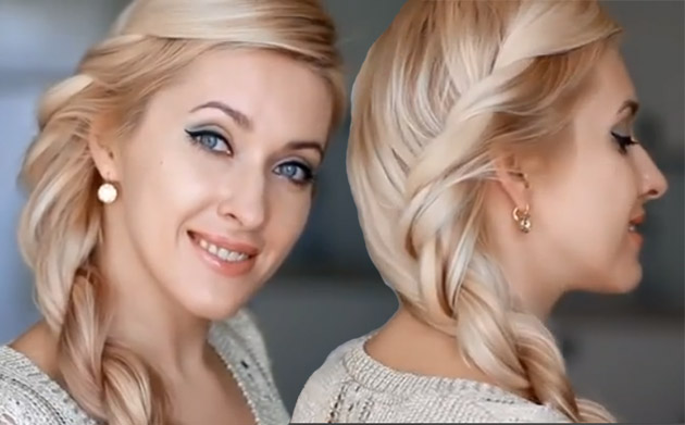 как заплести косу из 2 прядей