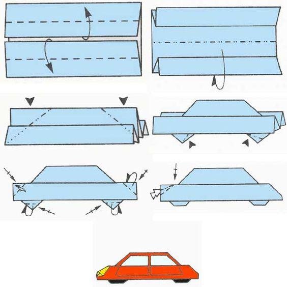 схема оригами легковушки