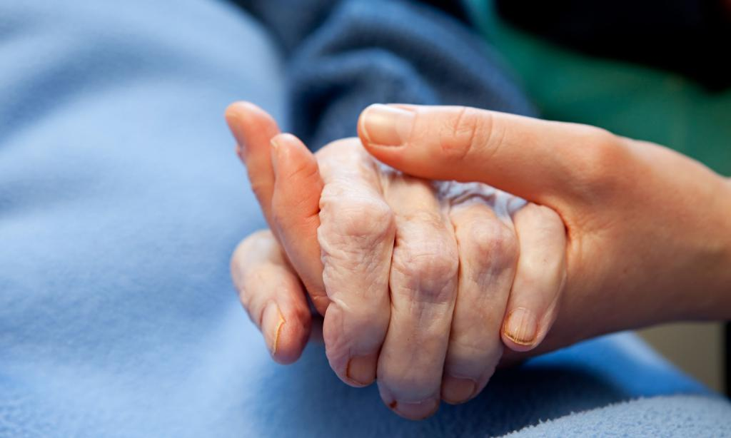 Молодая и старая рука