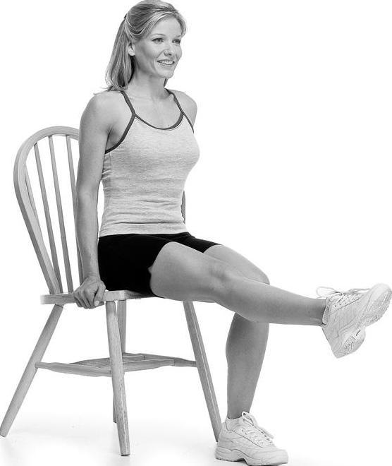 упражнения на пресс сидя на стуле