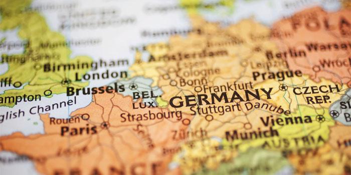 Германия на карте Европы