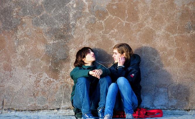 подростки на улице