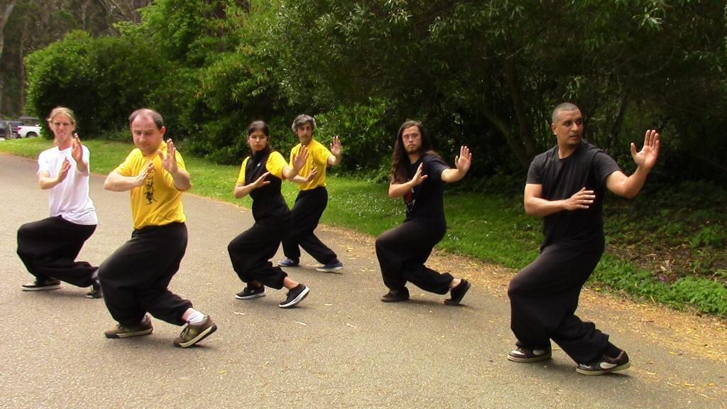 тренировка кунг-фу