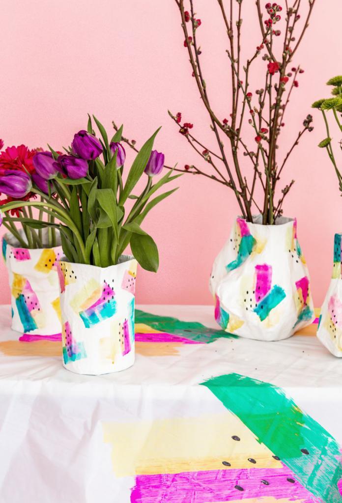 вазы из папье маше в интерьере