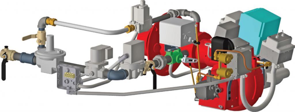 Подключение комбинированной газовой горелки