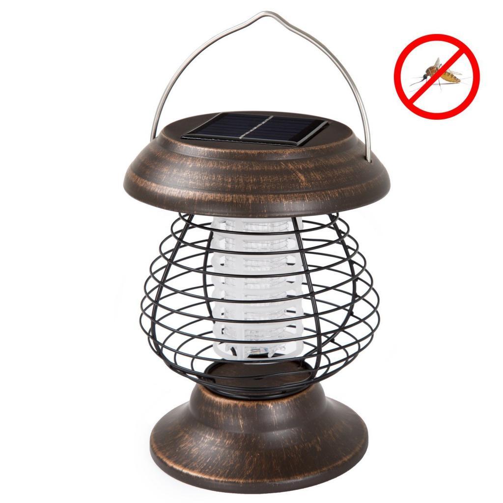 фонарь на солнечной батарее с уничтожителем насекомых