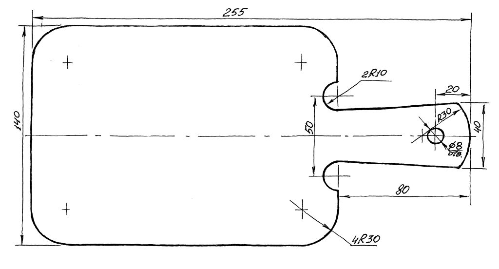 чертеж разделочной доски