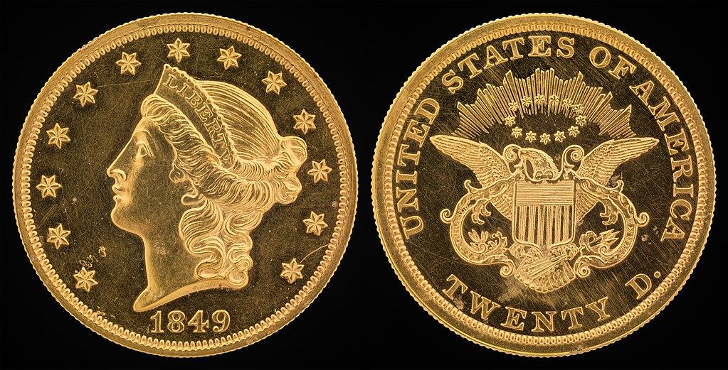 20 долларов США монета