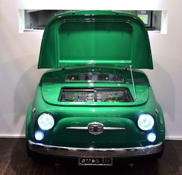 """Зеленый холодильник """"Смег-500"""""""