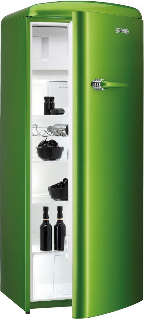 """Зеленый холодильник """"Горение"""" в стиле ретро"""