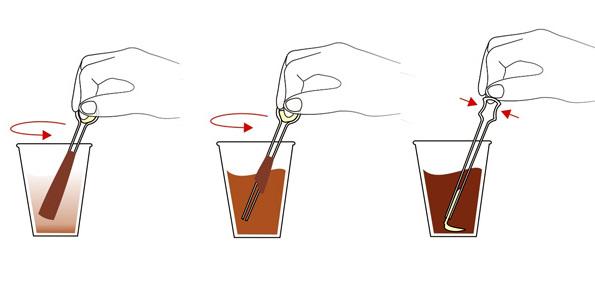 Как правильно держать палочку для кофе?