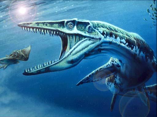 мозазавр в воде