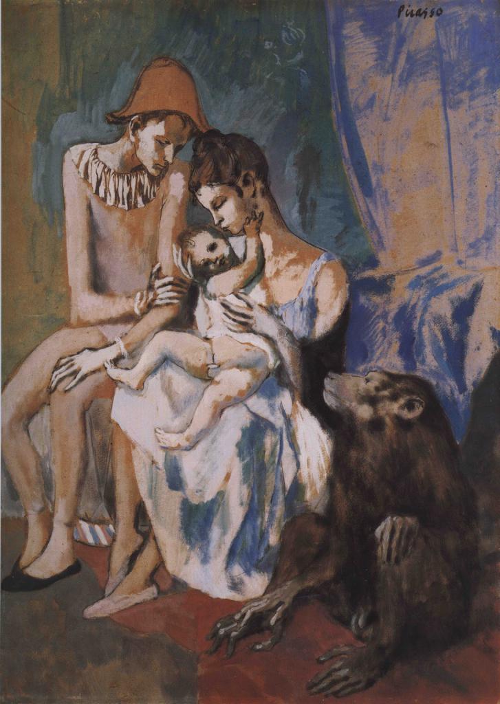 """картина """"Семья акробата с обезьянкой"""""""