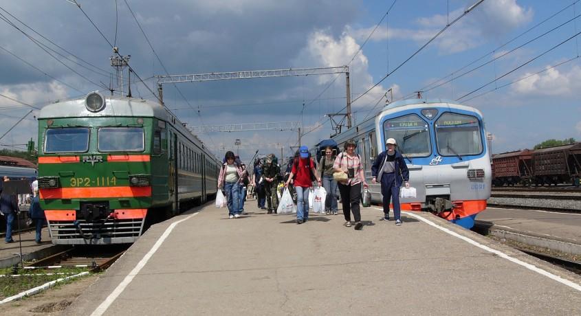 Электричкой из Монино в Москву
