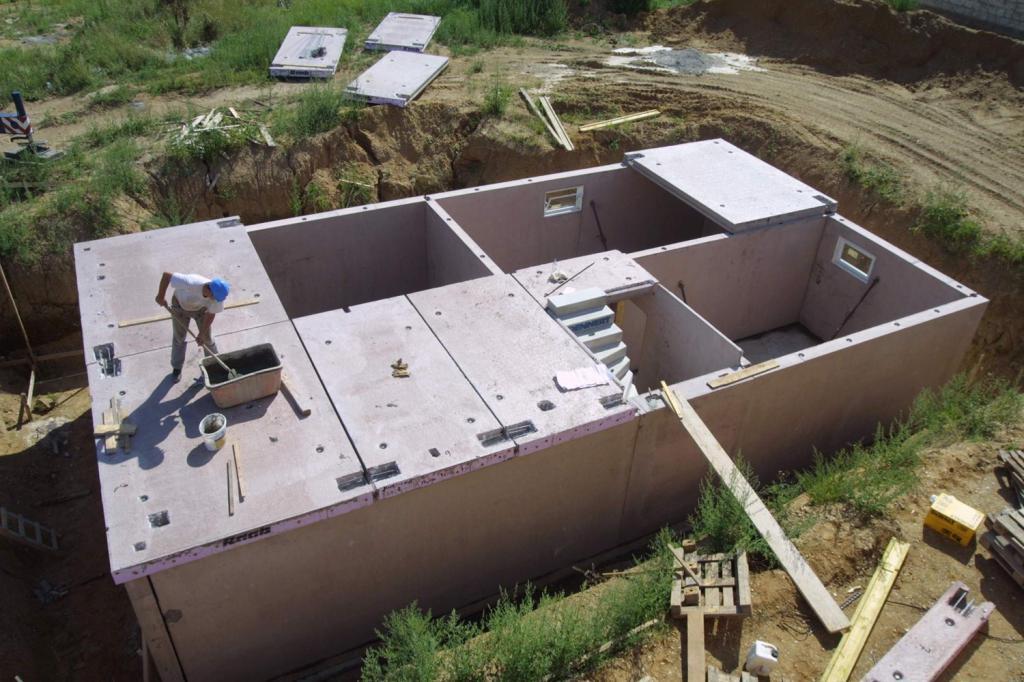 Монтаж потолочного перекрытия из бетона