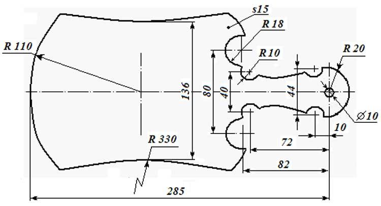 чертеж для изготовления разделочной доски