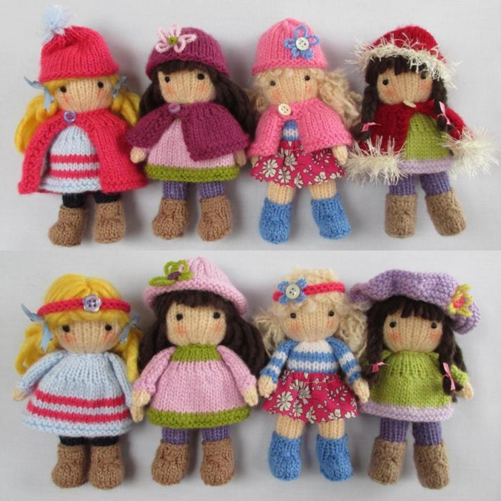 куклы вязанные крючком