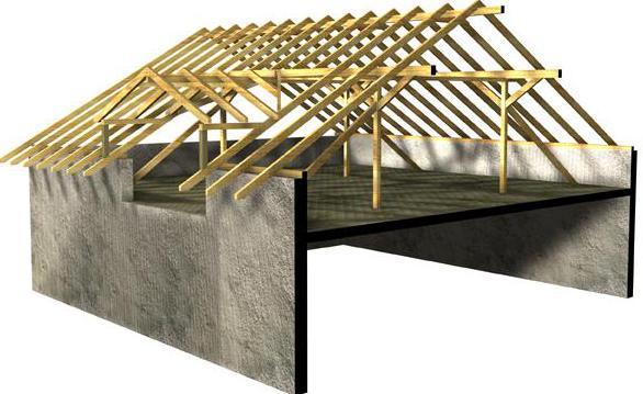 Висячая крыша с коньком