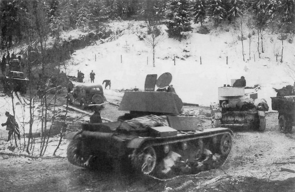 Советские танки на границе Финляндии