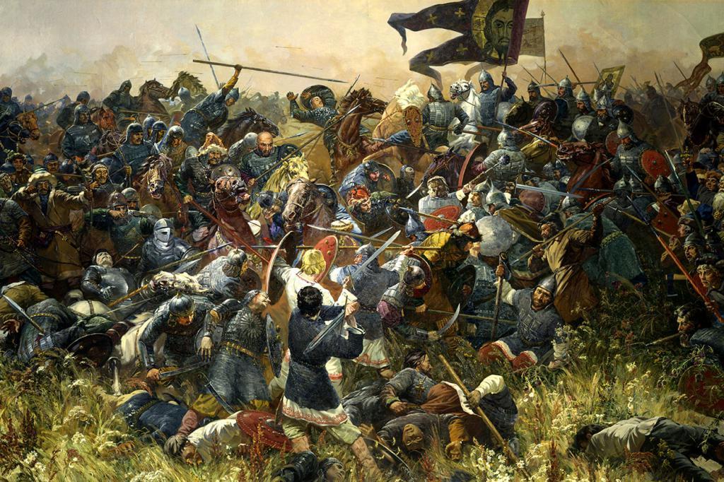 сошлись две армии на поле Куликовом
