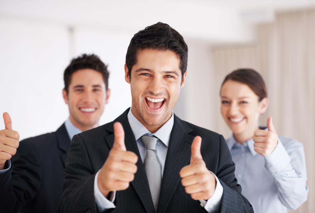 счастливые работники