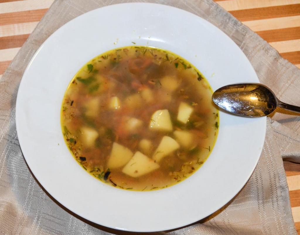 рецепт гречневого супа без мяса