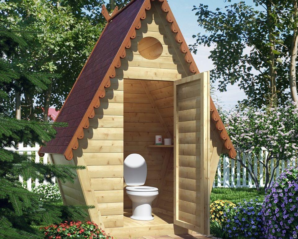 Необычный дачный туалет