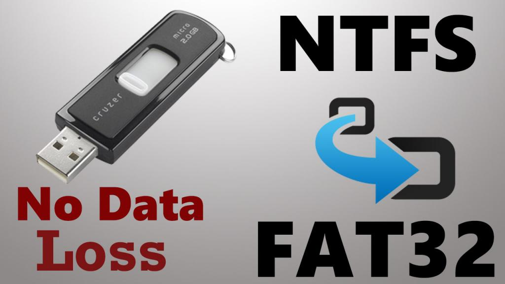FAT в NTFS USB