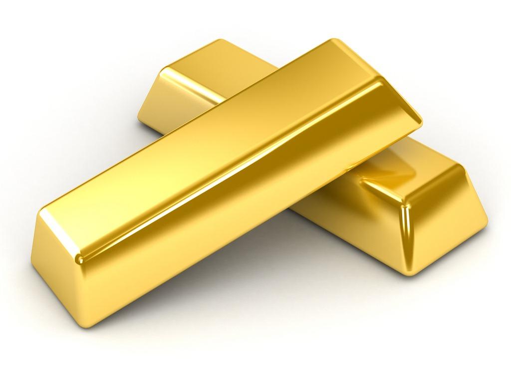 Слитки чистого золота
