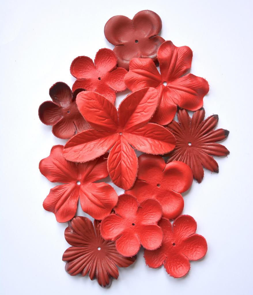 Заготовки для кожаных цветов