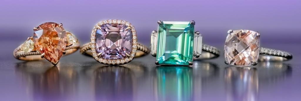 кольца с драгоценными камнями