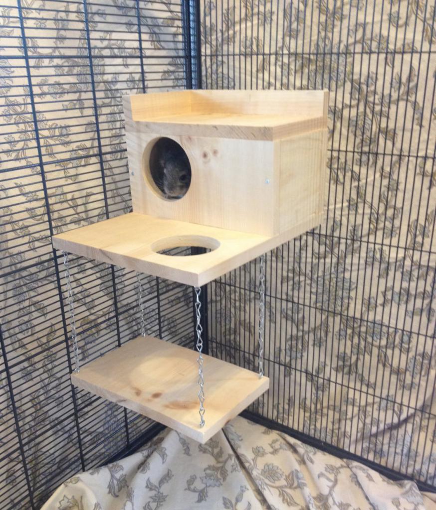 домик-клетка для шиншиллы
