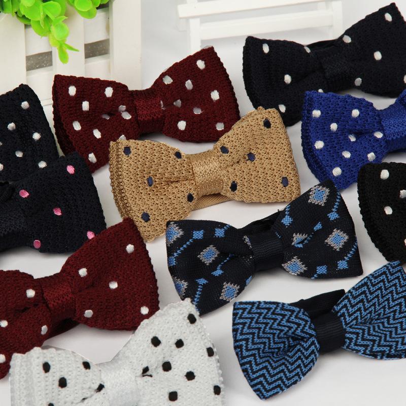 Вязаные галстуки разные