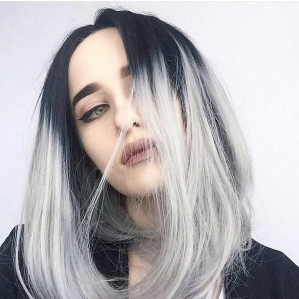 покрасить концы волос в белый