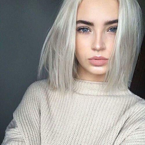 как покрасить черные волосы в белый