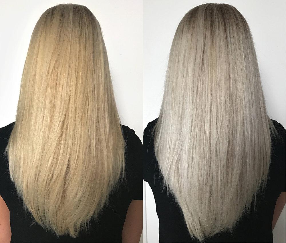 покрасить волосы в белый цвет без желтизны