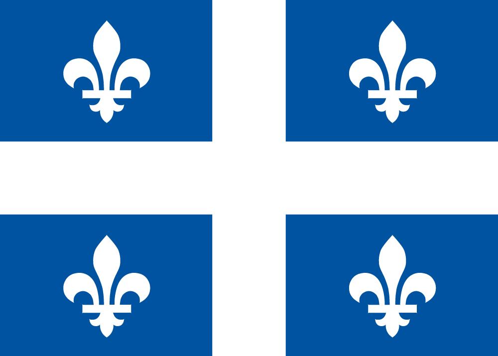 Флаг провинции Квебек