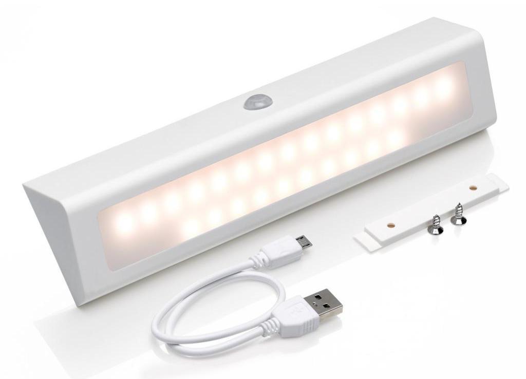 Перезаряжаемый светильник с датчиком движения