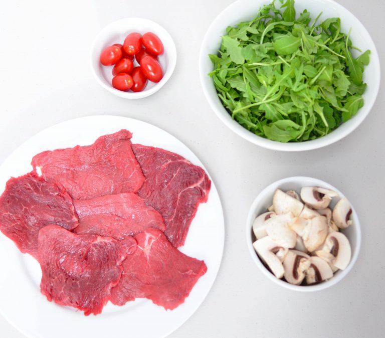 Ингредиенты для карпаччо с грибами