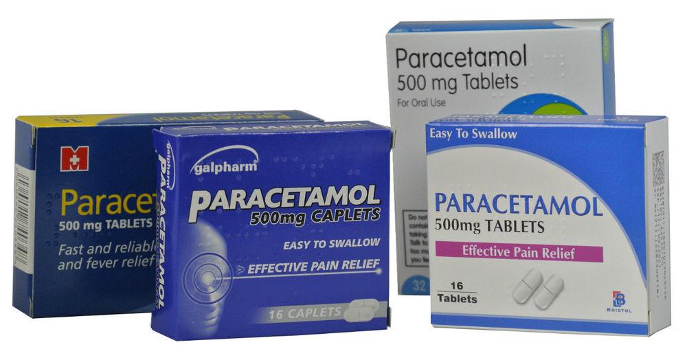 Упаковки парацетамола