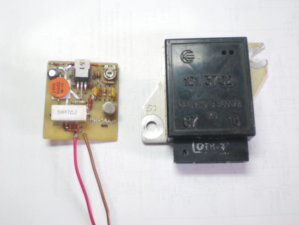 Реле зарядки ВАЗ-2107 инжектор