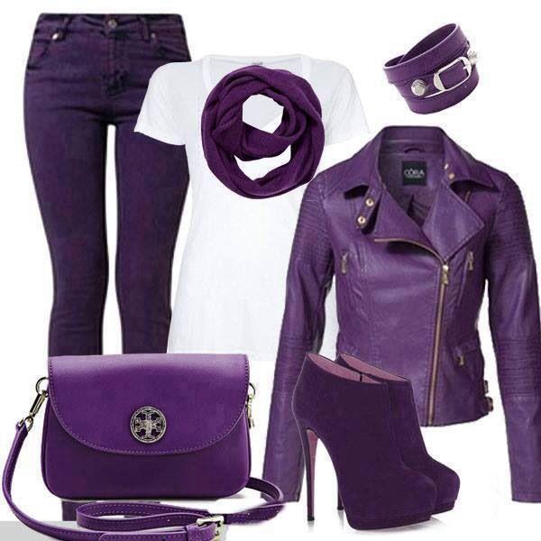 С фиолетовой курткой