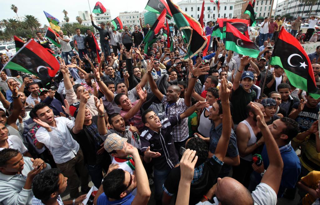 Революционеры Ливии празднуют победу