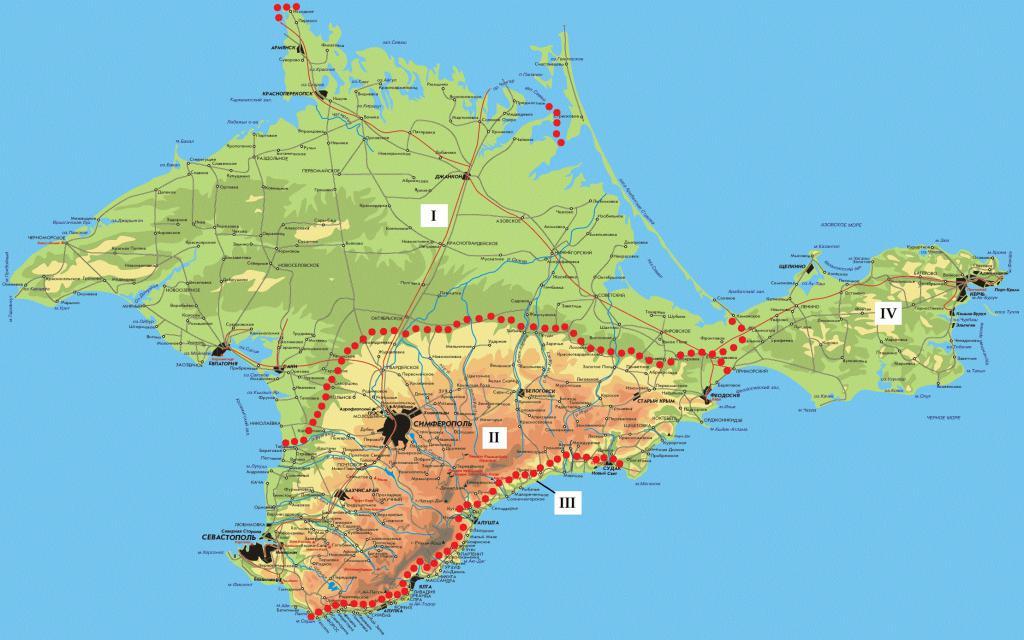 Степной Крым карта