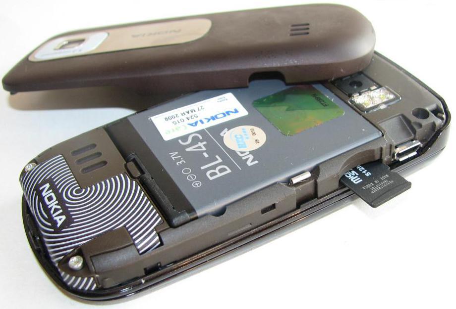 Nokia 3600 со снятой крышкой