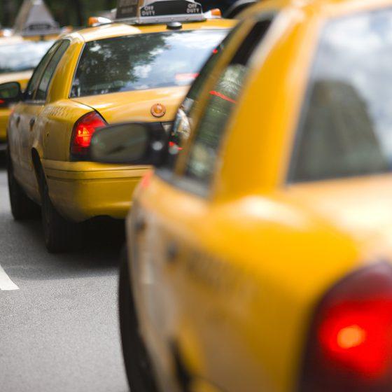 Такси в пробках мегаполиса
