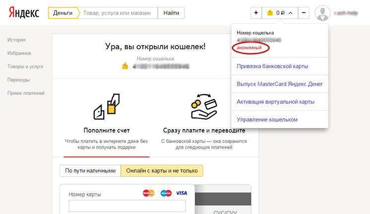 """""""Яндекс.Деньги"""" - тип профиля"""