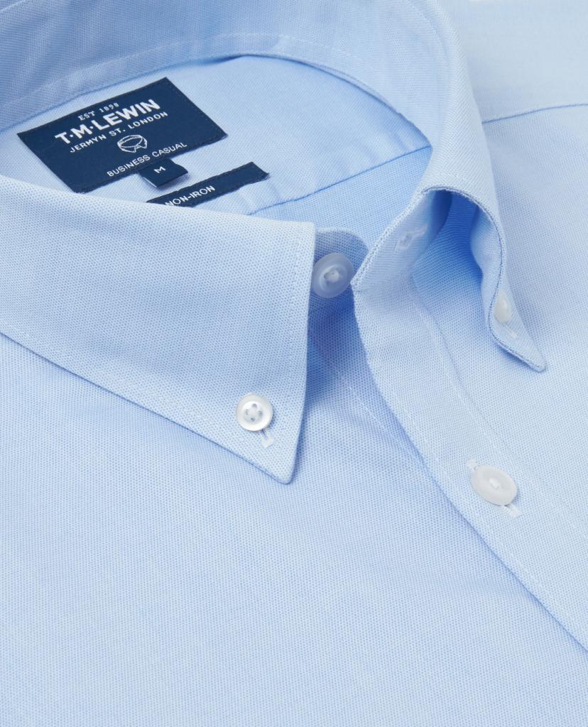 Голубая немнущаяся рубашка