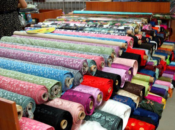 рынки тканей в Шанхае